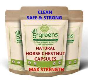 Horse Chestnut Extract Capsules 600mg ( 120mg Aescin ) Strongest on Ebay Natural