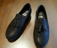 FitFlop Women's - $130. New - Tassel Superskate - Black Shimmer Loafer - Size 9
