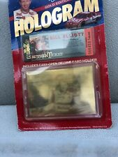 Wheels Racing Bill Elliott Gold Edition Hologram Card And Authenticket 1992