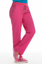 MedCouture Flex-It Ladies Cotton Blend Pink Scrub Pants Xl Petite Nwt