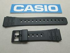 Genuine Casio W-59 W-64 W-85 JC-30 black resin rubber watch band 18mm lug size
