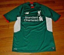 3f57d09bc Authentic New Balance Liverpool FC Soccer Away Jersey Green 2015 2016 M  Mint!