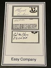 More details for ww2 band of brothers easy company 101st airborne signed bookplate - rare