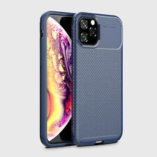 For iPhone 11 Pro Case Max 2019 Hybrid Shockproof Carbon Fibre Rubber Slim Cover