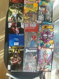 Mixed Lot of Old DC + Others  X 9  Comics  Arion Titans X Men
