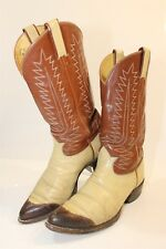 Tony Lama Mens 8.5 D Leather Cowboy Western Boots USA Made 6216 fq