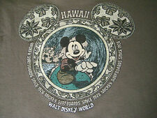 Walt Disney World Mickey Mouse Surfboards Hawaii Long Sleeve Youth L Shirt~Euc