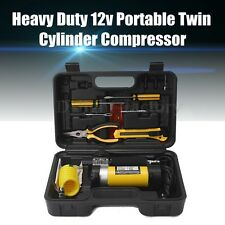 12v Portable Twin cylinder Air Compressor/Tyre Inflator Mini Kit Heavy Duty