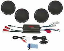 Pyle 4 Channel 800 Watt Waterproof Marine Amplifier and 6.5 Inch Speaker System