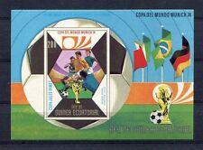 s5154) GUINEA ECUATORIAL 1974 MNH** WC Football -Coppa Mondo Calcio S/S IMPERF