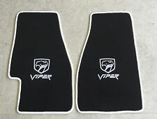 Autoteppich Fußmatten Chrysler Dodge Viper RT10 GTS schwarz weiss Velours Neu