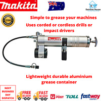 MAKITA GREASE GUN ATTACHMENT CORDLESS PISTOL HEX DRIVE SHANK P90439 4000PSI 1/4""
