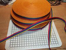 3 Meters POLYPROPYLENE STRAP WEBBING / Rainbow width - 15mm
