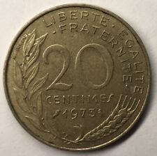 F.156 Monnaie Française 20 Centimes Marianne 1973 Achat Unitaire