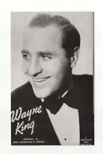 Wayne King 1940's-50's Mutoscope Music Corp of America Arcade Card Postcard