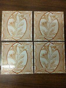 Antique Art Nouveau Tile Circa 1900's