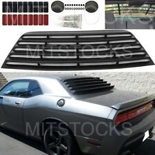 FITS 2008-2019 DODGE CHALLENGER WINDOW LOUVER REAR COVER ADD-ON BLACK PUR