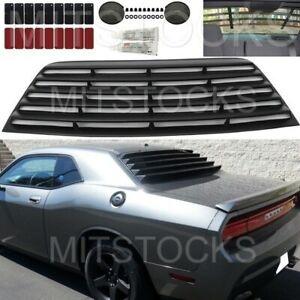 FITS 2008-2021 DODGE CHALLENGER WINDOW LOUVER REAR COVER ADD-ON BLACK PUR