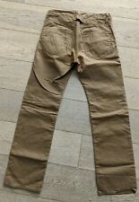 Imogene + Willie Oiled Cotton Tan Selvedge Cinch Waist W32/L31