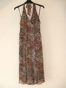 Gorgeous Brown & Beige Halterneck Dress from Papaya - Size 8 - BNWOT!!
