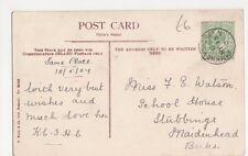 Miss Watson, School House, Stubbings, Maidenhead 1907 Postcard, B377