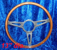 CLASSIC RIVETED HIGH QUALITY WOODRIM STEERING WHEEL 13""