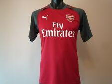 ARSENAL OFFICIAL LICENSED TRAINING JERSEY MENS LARGE RED 2017/18 NEW