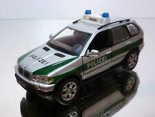 HONGWELL BMW X5 POLIZEI - GREY METALLIC 1:43 - GOOD CONDITION