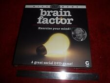 RARE BOXED BRAIN FACTOR HOSTED BY DESMOND LYNAM DVD MIND GAME 2008 by GINGER FOX