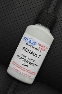 RENAULT BLANC GLACIER WHITE 389 PAINT TOUCH UP KIT 30ML SCRATCH CHIP