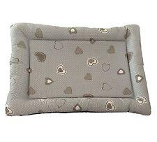 Cuccia,cuccetta,cuscino per cane shabby cuore grigio pois bianco 90x70