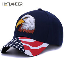 Spring summer mens baseball caps embroidery Eagle USA Flag Patriotic