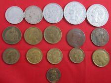 16 vintage France coins