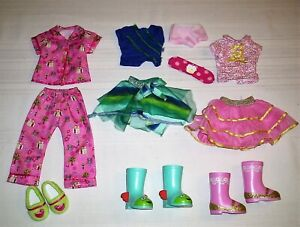 3 American Girl Wellie Wisher Doll Outfits Clothes With Matching Shoes and Boots