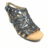 Women's NEW Josef Seibel Strappy Sandals Shoes Size 40 EU/9-9.5 Black Leather A8