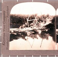 Wwi Stereoview card: British Scouts in Action near Ypres