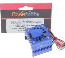 Powerhobby Aluminum Motor Heatsink Cooling Fan For 1/10 540 Size Motor Blue