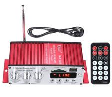 MINI AMPLIFICATORE AUTO CASA 12V 2 CANALI STEREO LETTORE SD/MMC USB RADIO FM TEL
