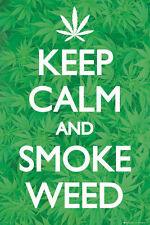 KEEP CALM AND SMOKE WEED MARIJUANA POSTER (61x91cm)  PICTURE PRINT NEW ART