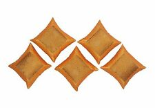 """5Pcs 16"""" Floral Decorative Pillow Case Silk Embroidery Couch Decor Cushion Cover"""