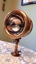 Antique Brass Era Boat or Auto Brass Spot Light Chris Craft Gar Wood Hacker