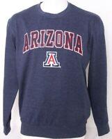 NEW Arizona Wildcats Colosseum Navy Embroidered Crew Neck Sweatshirt Men's L