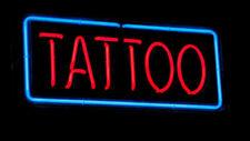 "Tattoo Rectangle Neon Light Sign 24""x16"" Beer Bar Decor Lamp Glass"