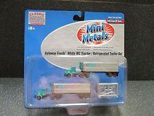 N Safeway Foods White WC Tractor/Refrig.Trailer Set - Classic Metal Works #51148