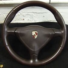 Porsche Boxster 986 996 Steering Wheel 3 spoke Manual Brown 550 Anniversary