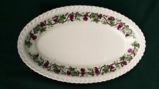 VINTAGE COLLECTIBLE HARKER ROYAL GADROON SMALL OVAL DISH W/GRAPE VINES PRETTY