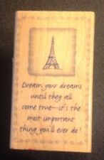 Inspiration Prints Eiffel Tower Hero Arts D1997 Rubber Stamp Dream Your Dreams