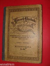 1891 Swedish Child's Baptist Sunday School Book spelling, history, religion, etc