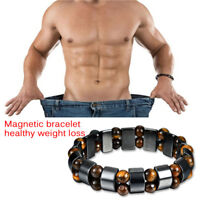 Black Magnetic Bracelet Hematite Stone Health Care Weight Loss Jewelry**tr