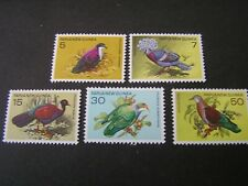 PAPUA NEW GUINEA, SCOTT # 465+469(5), COMPLETE SET PROTECTED BIRDS 1977 ISS MNH